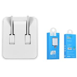 Wholesale C8 Charger - HOCO C8 Universal Phone Charger Travel Adapter Fast Charging 3.4A Dual USB Folding For iPhone Samsung Huawei Zte With Retail Package
