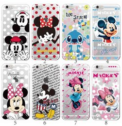 Wholesale Iphone 5c Cartoon - Minnie Mickey Cartoon Stitch Pooh Bear Characters Soft Clear TPU Phone case Cover For iPhone4 5 6 7 S Plus SE 5C For samsung S5 S6