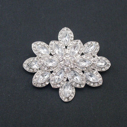 Wholesale Cheap Wedding Items Wholesale - New Hotsale 12pcs pack Cheap Wholesale Rhodium Plated Alloy Crystal Nice Pin Brooch For Wedding, Item No.: BH7528