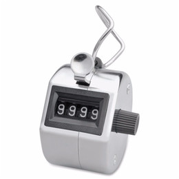 Wholesale Numbers Test - Wholesale- Fish SunDay Portable Handy 4 Digits Metal Tally Number Golf Test Lap Counter Number Clicker Levert Dropship Jan24