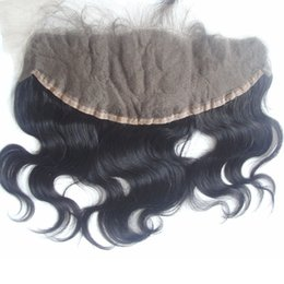 Wholesale Cambodian Baby Hair - 13*4 Full Lace Frontal Closure Body Wave Unprocessed Cambodian Virgin Human Hair Natural Black Color 8-20 inch With Baby Hair Bleached Knots