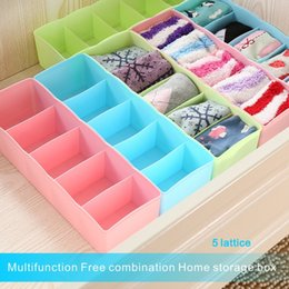 Wholesale Box Cabinets - High Quality Fashion 5 Format Storage Box Can Be Freely Combined Store Underwear, Socks, Cosmetics, For Cabinets, Drawers.