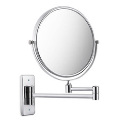 Wholesale Wall Make Up Mirror - Bathroom Shelves Strong Suction Holder Shampoo Corner Triangle Shelf Chrome Plate Bathroom Accessory Bathroom Hardware Make Up Mirror +NB