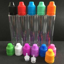 Wholesale E Ml - 30ml Unicorn Bottle PET Transparent Vape 30 ml. Empty E Liquid Long Slim Dropper Bottles Colorful Childproof Caps Pen Style For Ejuice DHL