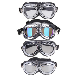 Wholesale Motorcycle Glasses Goggles Vintage - Wholesale- 2017 NEW Vintage Harley style motorcycle gafas motocross moto goggles Scooter Goggle Glasses Aviator Pilot Cruiser