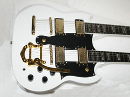 Wholesale Electric Guitar White Maple Neck - Wholesale- Custom Shop White 1275 guitar With tremolo Custom 6 12 Strings Double Neck Electric Guitar Best Selling China Factory Outlet