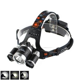 Wholesale Boruit Flashlight - Boruit 8000LM 3 x XM-L L2 LED Headlight Headlamp FISHING CAMPING Head Torch Flashlight USB Lamp Free Shipping