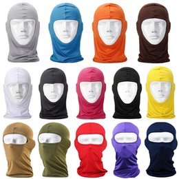 Wholesale Wholesale Fleece Hats Scarves - Wholesales 14 Colors Thermal Fleece Balaclava Headwear Warm Face Ski Caps Cycling Hats Motorcycle Face Riding Bike Mask Scarf