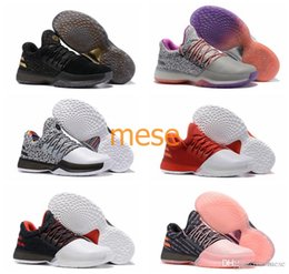 Wholesale Pink Star Shoes - 2017 New Harden Vol.1 Men Basketball Shoes James Harden ALL-Star No Brakes BHM Black Gold Pioneer Home Cargo Christmas Shoes Sneakers