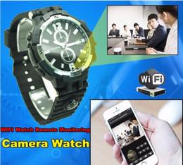 Video assistir visão noturna on-line-720 P HD WI-FI P2P Assista DVR Monitoramento Remoto Câmera IP 16 GB de Detecção de Movimento gravador de vídeo Assista Câmera Night Vision Para IOS Android