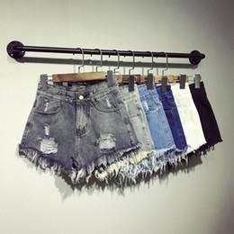 Wholesale Mini Short Jeans Female - Wholesale- Thoshine Brand 2017 Summer Women Ripped Hole Denim Shorts Female High Waist Mini Short Jeans Lady Casual Pants Plus Size 6XL