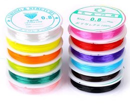 Wholesale Cheap Beads For Jewelry - 5 Sizes Candy Multiple colors elastic string cord DIY jewelry Wire for beads bracelet cheap Jewelry DIY component