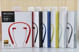 Wholesale Earphones Mdr - High Quality Sound MDR-EX750 Headphones Wireless Bluetooth Sports Neckband Headset In-ear Handsfree Stereo csr4.1 Earphones HBS900 HBS850
