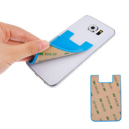 Wholesale Sticky Mobile Holder - Cheap Universal 3M Sticky Phone Wallet card holder Silicone Smart Wallet smart phone wallet iwallet for Mobile Phone Silicone Card Holder