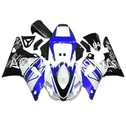 Wholesale 98 R1 Blue Fairings - 3 free gifts Complete Fairings For Yamaha YZF 1000-YZF-R1-98-99 YZF-R1-1998-1999 Motorcycle Full Fairing Kit Blue black White