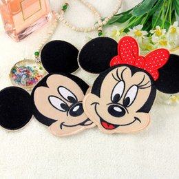 Wholesale Iron Embroidered Patch Minnie - 10pcs Cartoon Mickey Minnie Patch For Clothing Iron On Patches parches ropa Embroidered Baby Jacket Jeans Fabric Patchwork Badge Appliques