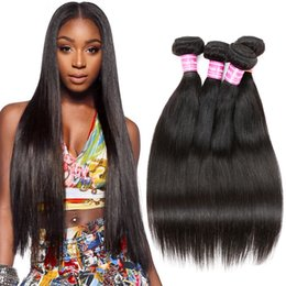 Wholesale Cheap Piece Brazilian Weave - Brazilian Human Hair Weave 4 Bundles Brazilian Cambodian Soft Virgin Hair Straight Cheap Remy Human Hair Unprocessed Nature Black By Cosy