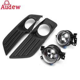 Wholesale Ford Front Bumpers - 2Pcs Car Bumper Front Fog Lights Lamp + Cover Grille Kit Set For Ford Focus 2005-2007
