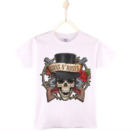 Wholesale Rock Fashion Boy - 2017 New Arrival Children Clothes Hard Rock Guns N Roses Print Kids T-shirt 100% Cotton Boys T Shirts Girls Tops Tee Baby Tshirt