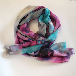 Wholesale Silk Fabric Shirts - Silk Scarf Color Printed Fabrics Women's Shirts dresses scarves shawls free shipping High Quality