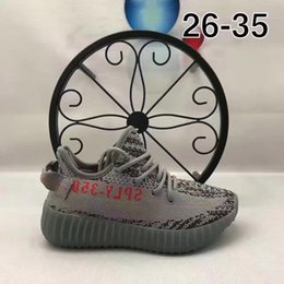 Wholesale Children Shoes Sale - Hot Sale SPLY 350 Boost V2 Children Athletic Shoes Kanye West Sneakers Kids Shoes All White Zebra Black Red