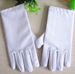 Wholesale Dance Team Wholesale - Wholesale- White glove performance glove for student white dance children glove team 15.5x6.5cm