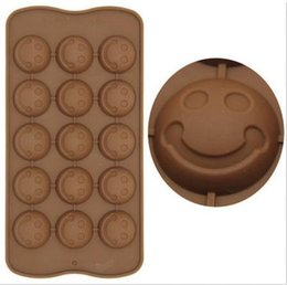 Wholesale Silicone Molds Faces - new hot smiling face shape silicone cake mold chocolate Fondant tools party decoration bakeware cupcake baking molds