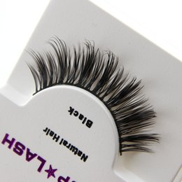 Wholesale Sexy Woman Strip - NEW Sexy Women Black Luxurious Real Mink Natural Thick False Eyelashes Beauty D-6 Top Quality Free shipping