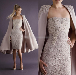 Wholesale White Mini Dress Train - Paolo Sebas 2017 Short Mini Lace Cocktail Dresses With Jackets Formal Evening Party Gowns Dress Occasion For Party Prom Appliques Beading