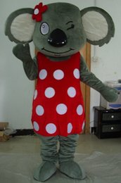 Wholesale Happy Bear Mascot - 100% real photos of happy girl koala bear mascot costume for adult to wear for sale