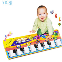 Wholesale Modern Kids Plastic Toys - Wholesale- Modern Baby Play Mat Touch Play Keyboard Musical Music Singing Gym Carpet Mat Kids Baby Gift Toys for Baby bb Jan17