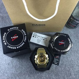 Wholesale Black Wedding Jewelry Sets - AAA top quality men's sports ga110 watches men watch LED chronograph small pointer work g shock waterproof with original case card bag box