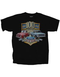 Wholesale New Ford Trucks - NEW NWT Ford Truck 100 Yrs - Built Tough Licensed T-Shirt, 55 F Series Hipster Tees Summer Mens T Shirt