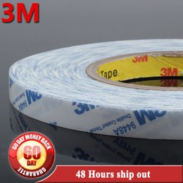 Wholesale Hair Glue Adhesive - Wholesale- 2016 10mm   1cmx50metre strong hold 3M adhesive double sided tape for tape in hair extensions   glue skin weft hair extensions
