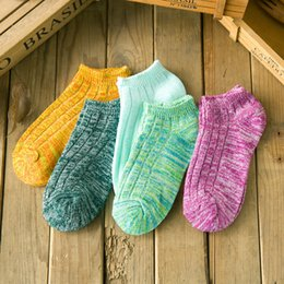 Wholesale Japanese Socks Female - Wholesale- a pair of The new Japanese harajuku national wind cord female ship socks Cotton socks wet socks