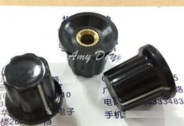 Wholesale potentiometer knobs wholesale - Wholesale- 50pcs lot Free shipping Cap type lock screw knob 17-13*15MM black knob cap inner hole 4MM lock screw