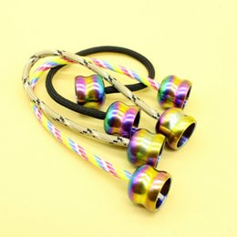 Wholesale Beads Metal Colorful - Fidget begleri EDC Colorful Treasure beads two beads a rope fingertips hand movements EDC string made of stainless steel XT