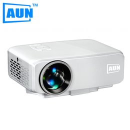 Wholesale Led Home Theatre Projector - Wholesale-AUN Projector AM9 MINI Beamer 800 Lumens 640 X 480 Entry Level LED Projector for Home Theatre Children Education Videoprojecteur