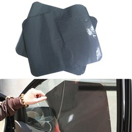 Wholesale Sun Protection Film - Wholesale- Car Auto Accessories Curtain Windshield PVC Sticker Sun shade UV Protection Side Window Film 38cm x 42cm 2Pcs Per Set