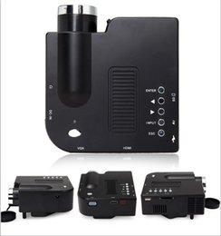 Wholesale Portuguese Education - Wholesale-Black White Color HDMI SD Projector More Than 20000 Hours Lamp Life Mini Pocket Handy Projektor Support Spanish Portuguese