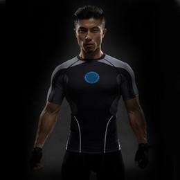 Roupas esportivas de verão dos homens de fitness calças justas de fitness ternos de alta estiramento secagem rápida respirável T-shirt do homem do sexo masculino de