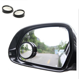 Wholesale Vehicle Stickers - 2pcs SET universal Driver 2 Side Wide Angle Wideangle Sticker Round Convex Car Vehicle Mirror Blind Spot Auto RearView for all car