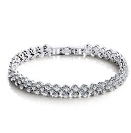 Deutschland 925 Sterling Silber Kristall Schmuck Charme Armbänder Swarovski Elemente Strass Kette Mode Vintage Hochzeit Top Qualität Versorgung