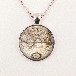 Wholesale Glass Globe Necklace - Free shipping Glass Dome Vintage globe necklace, vintage world pendant, world map jewelry, keepsake map pendant
