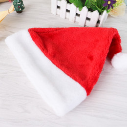 Wholesale Kids Santa Costumes - Santa Hats Christmas Cap Costume Decorative Party Cosplay for Children Kids Adults Claus Merry Christmas Decor Hat Gifts Decoration