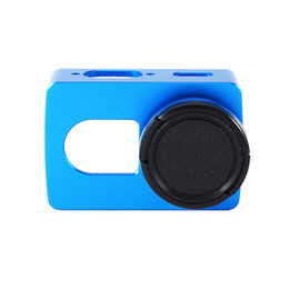 Wholesale Hard Lens Cases - Wholesale- For Xiaomi Yi 4k Protective CNC Frame Case+Lens Cover (without UV Lens) For Xiaomi Yi 2 4K Sport Camera