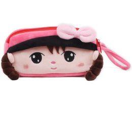 Wholesale School Pencils Wallet - New Cute Cartoon Pencil Case Plush 20 *11 *5 cm Large Pencil Bag for Kids School Supplies Material Korean Stationery Wallets