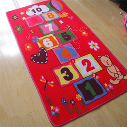 Wholesale Carpet Play Mats For Kids - Wholesale- 2017 New Arrival Hopscotch Pattern Baby Play Mats Crawling Rug Carpet Educational Toys For Kids Girls Games 01