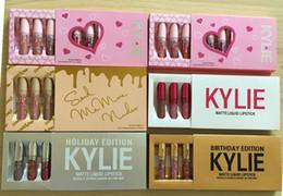 Wholesale Wholesale Natural Lipstick - Kylie Cosmetics Mini 6pcs Kit i want it all Birthday Holiday Valentine vacation nude Edition 6pcs Set matte lipstick collection set edition