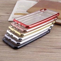 Wholesale Cases Phone Factory - Hot Sale Phone Case For Iphone 7 6 Iphone 6sPlus Silicone And Special Edge Electroplate Case Back Cover Opp Package Factory Sell Directly